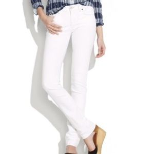Madewell rail straight white jeans